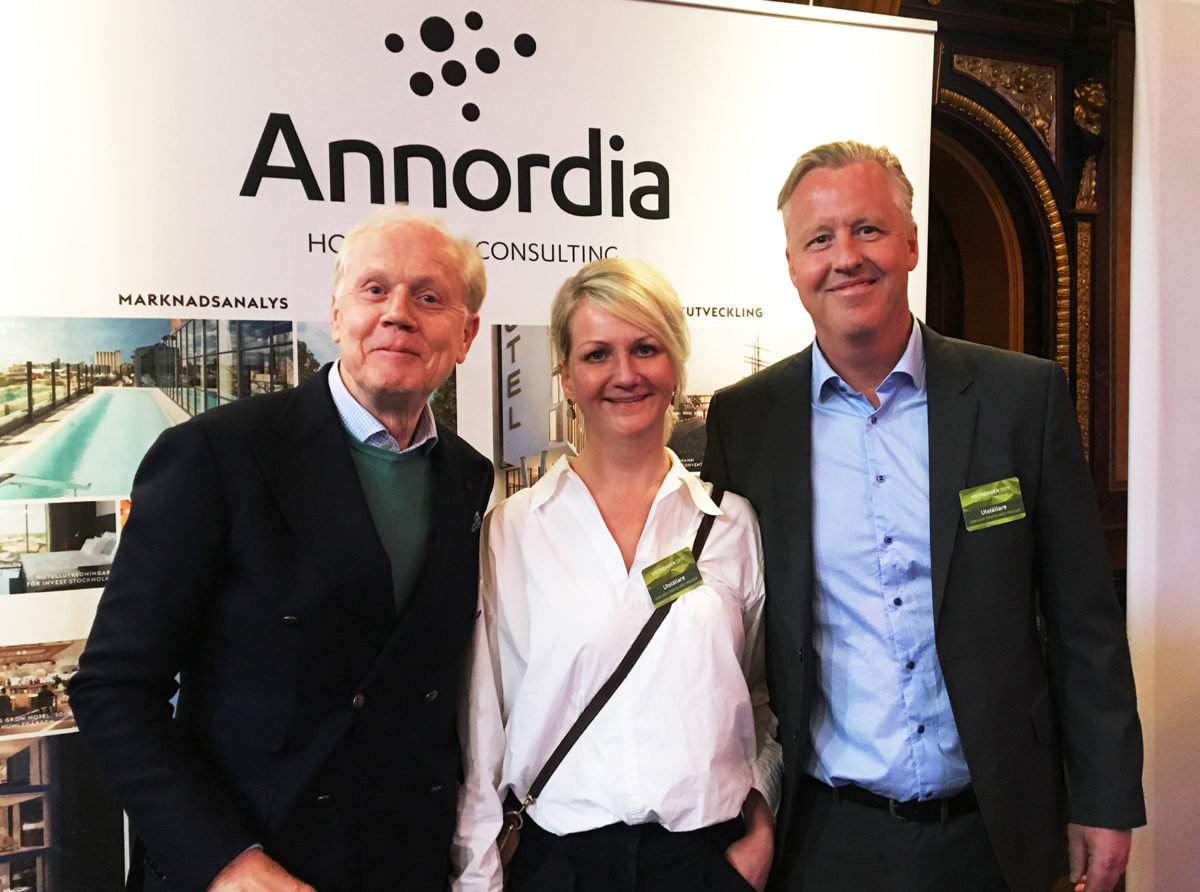 Annordias VD Hans Åke Petersson, Marknadsansvarig Cecilia Eklind och Chefsekonom Björn Arnek.
