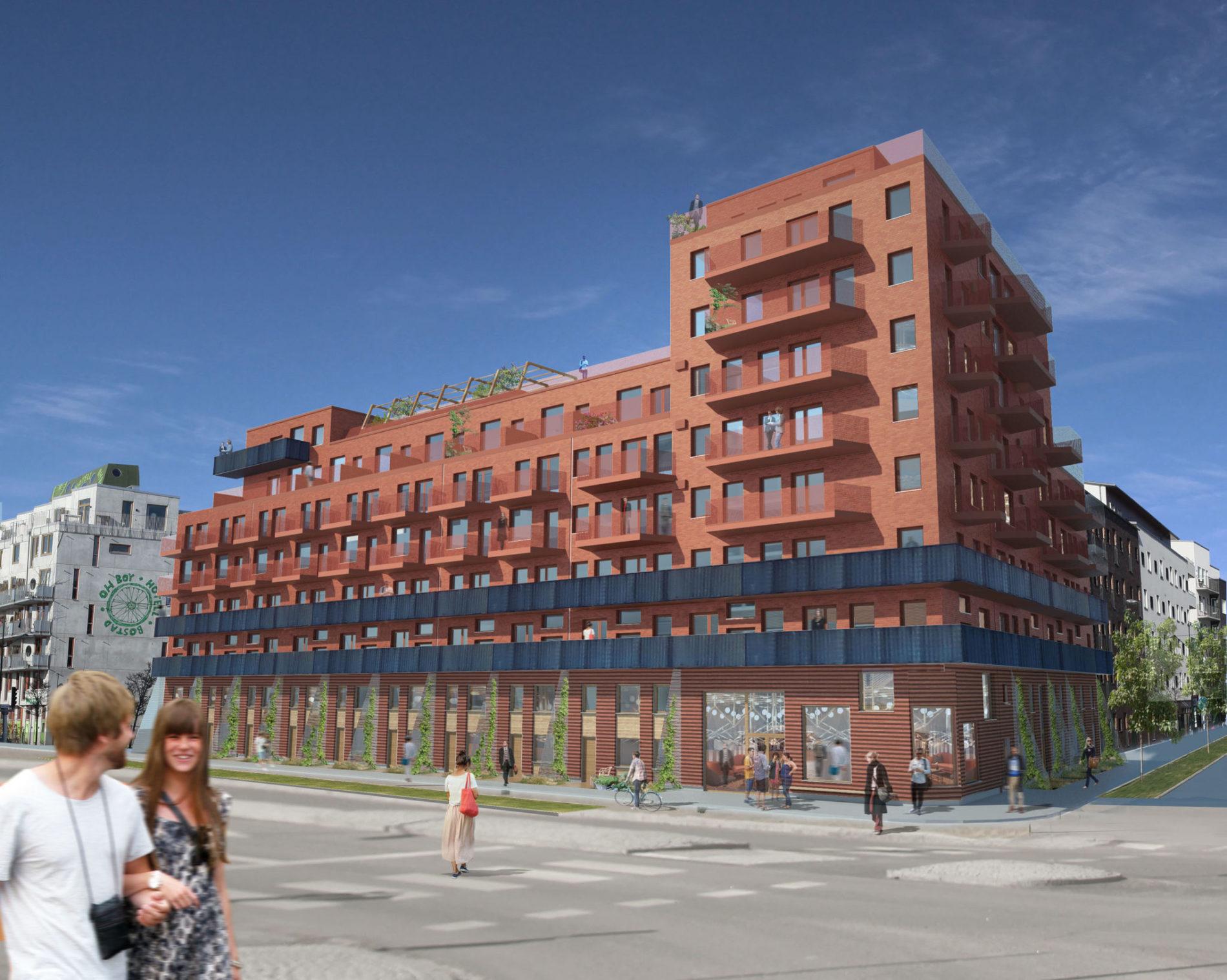 Lägenhetshotell i Västra Hamnen, Malmö.