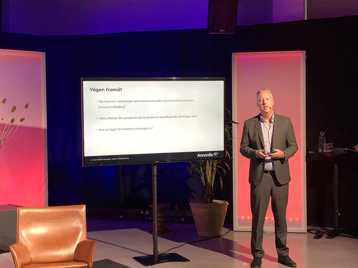 Annordias Chefsekonom Björn Arnek på Fastighetsvärldens seminarium