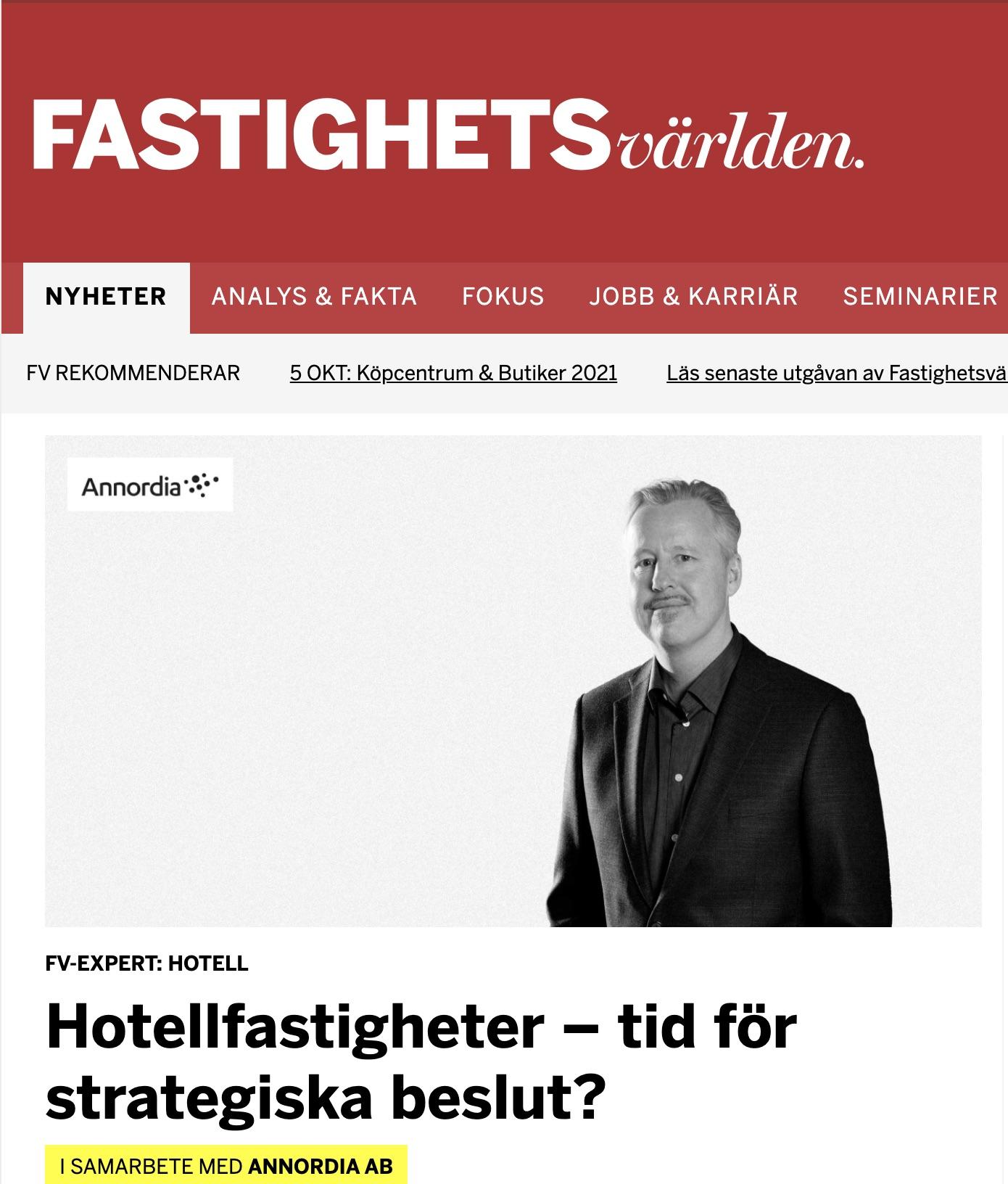 Björn Arnek Annordia - Fastighetsvärlden Experten