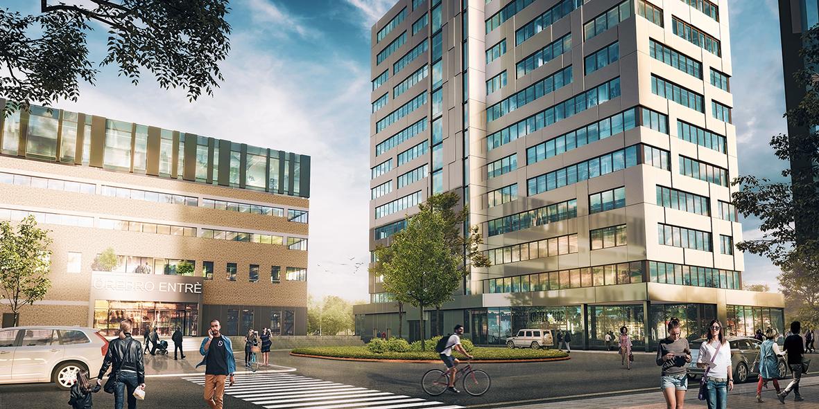 Scandic to Klövern's Örebro Entrance project.